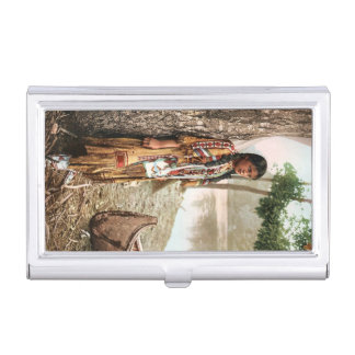 Minnehaha Vintage Native American Business Card Case