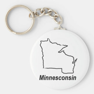 Minnesconsin Key Ring