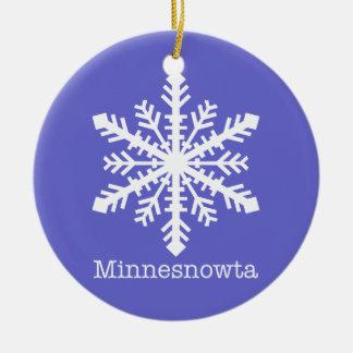 Minnesnowta Snowflake Round Ceramic Decoration