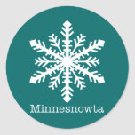 Minnesnowta Snowflake Round Stickers