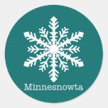 Minnesnowta Snowflake Stickers