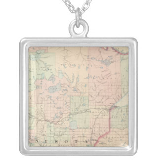 Minnesota 3 silver plated necklace