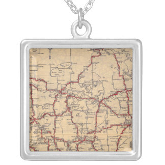 Minnesota 8 silver plated necklace