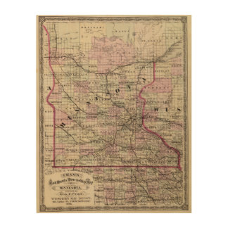 Minnesota 9 wood print