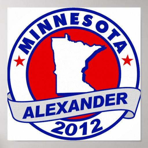 Minnesota Alexander Poster