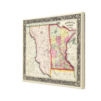 Minnesota, And Dacotah Canvas Print