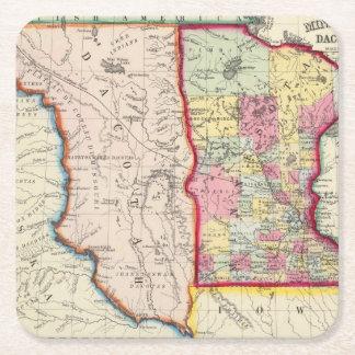 Minnesota, And Dacotah Square Paper Coaster