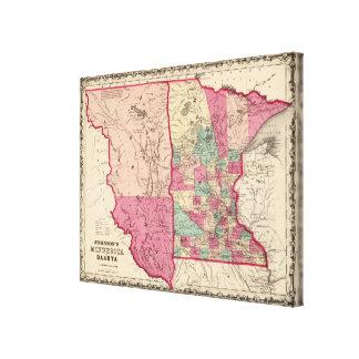 Minnesota and Dakota Gallery Wrapped Canvas