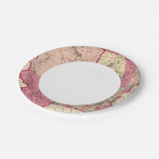Minnesota and Dakota Paper Plate