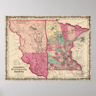 Minnesota and Dakota Poster