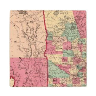 Minnesota and Dakota Wood Coaster