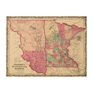 Minnesota and Dakota Wood Canvases