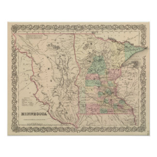 Minnesota and Dakotah Poster