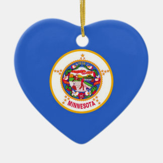 Minnesota Ceramic Heart Decoration