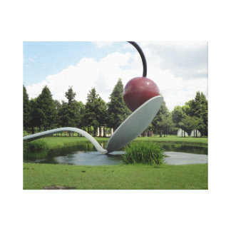 Minnesota Cherry and the Spoon Printed Canvas Gallery Wrapped Canvas