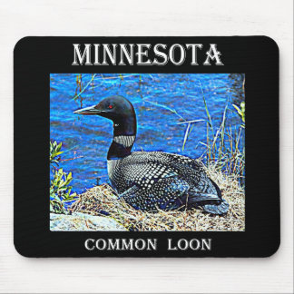 Minnesota Common Loon Mouse Pad