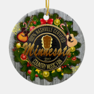 Minnesota Country Music Fan Christmas Ornament