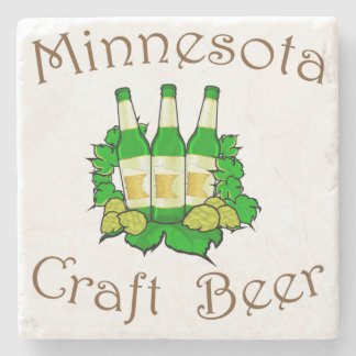 Minnesota Craft Beer Marble Coaster
