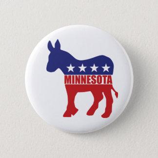 Minnesota Democrat Donkey 6 Cm Round Badge