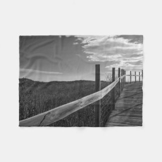 Minnesota, Duluth, Park Point, Boardwalk Fleece Blanket