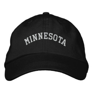 Minnesota Embroidered Adjustable Cap Black