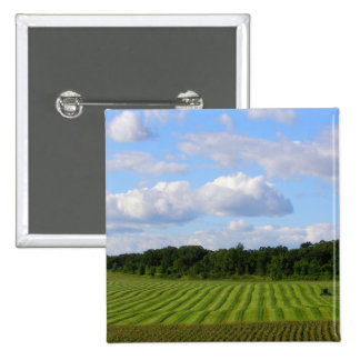 Minnesota farm beautiful summer day photography 15 cm square badge