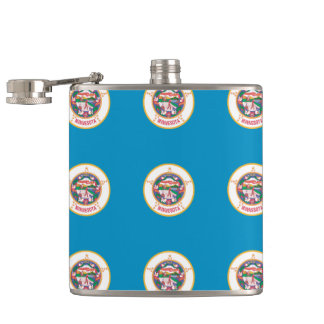 MINNESOTA FLAG HIP FLASK