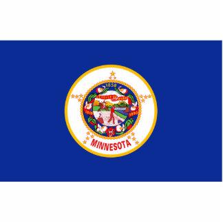Minnesota Flag Keychain Cut Out