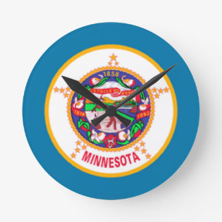 Minnesota Flag Round Clock