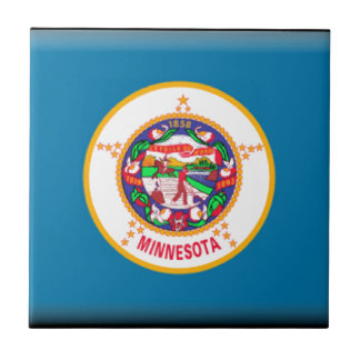 Minnesota Flag Small Square Tile