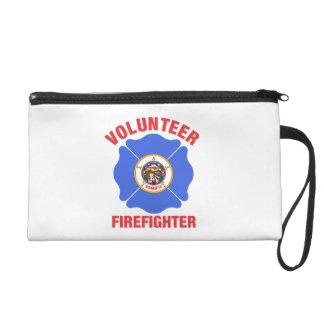 Minnesota Flag Volunteer Firefighter Cross Wristlets