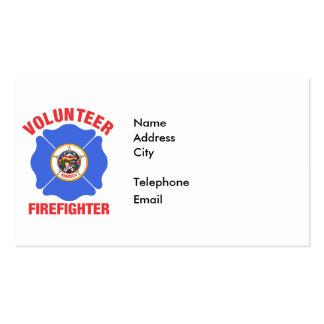 Minnesota Flag Volunteer Firefighter Cross Pack Of Standard Business Cards