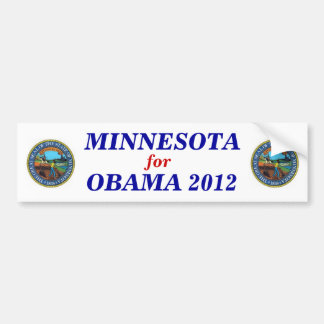 Minnesota for Obama 2012 sticker Bumper Sticker