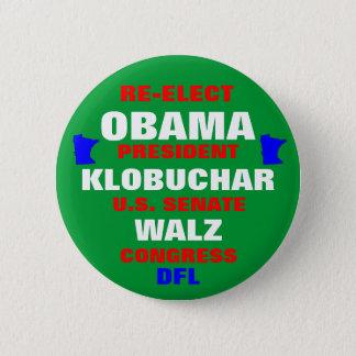 Minnesota for Obama Klobuchar Walz 6 Cm Round Badge