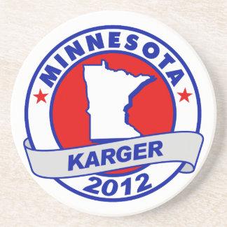 Minnesota Fred Karger Beverage Coaster