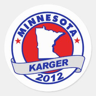 Minnesota Fred Karger Round Sticker