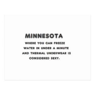 Minnesota Freeze Postcard