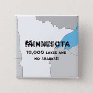 Minnesota Funny 15 Cm Square Badge