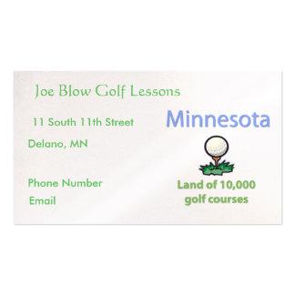 Minnesota Golfer Pack Of Standard Business Cards