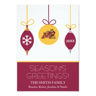 Minnesota Gophers Holiday Card 13 Cm X 18 Cm Invitation Card