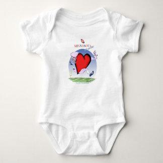 minnesota head heart, tony fernandes baby bodysuit