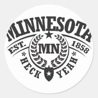 Minnesota Heck Yeah Est 1858 Sticker