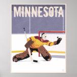 Minnesota hockey poster