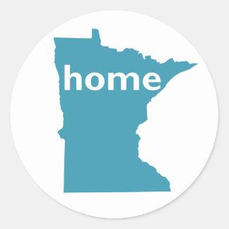 Minnesota Home Classic Round Sticker