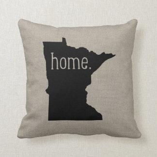 Minnesota Home State Throw Pillow