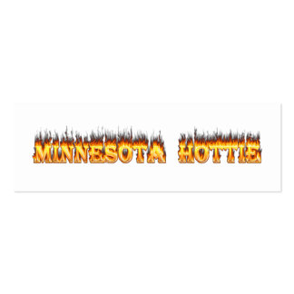 Minnesota Hottie fire and flames Business Card Template