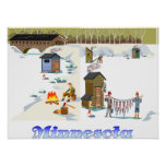 Minnesota Ice Fishing Print
