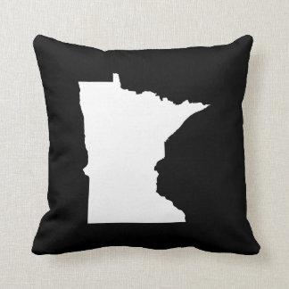 Minnesota in White and Black Cushion