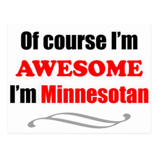 Minnesota Is Awesome Post Card