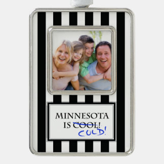 Minnesota is Cool Silver Plated Framed Ornament